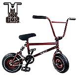 Mini BMX Freestyle Bike–Licht Fat Reifen mit Profilsenkereinsätze Kurbel & Spring Zubehör für PRO zu Anfänger–Diese Bad Boy Fahrräder sind ideal für Stunt Trick & Racing (Red Splash) von Ride 858