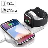Base de carga inalámbrico ultra delgado 2 en 1 para iPhone Apple Watch Serie 2/3 etc.