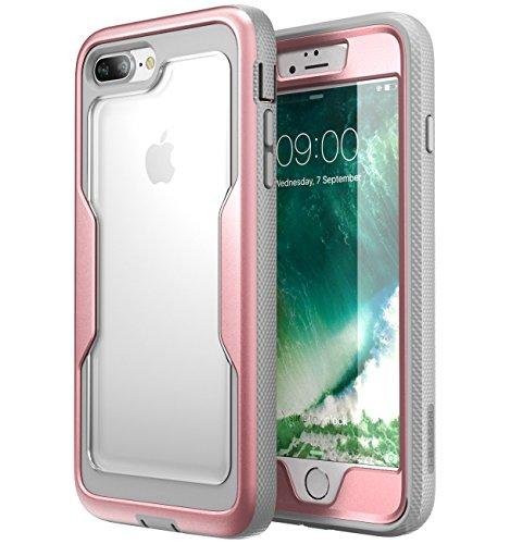 Carcasa para iPhone 8 Plus, i-Blason [Protección para trabajo pesado] [Transparente Atrás] [Magma Series] Reducción de cortos electrico / Protection de cuerpo completo con protector de pantalla incorporado para Apple iPhone 8 Plus 2017 Lanzamiento