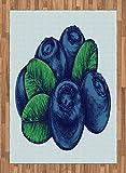 ABAKUHAUS Bleu Vintage Tapis Tissé à Plat, Blueberry Vintage, Salle de Séjour...