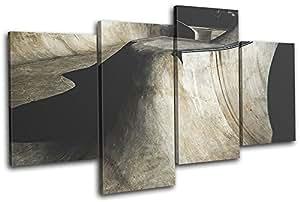 Bold Bloc Design - Skate Park Ramp Abstract Hobbies 80x45cm MULTI Leinwand Kunstdruck Box gerahmte Bild Wand hangen - handgefertigt In Grossbritannien - gerahmt und bereit zum Aufhangen - Canvas Art Print
