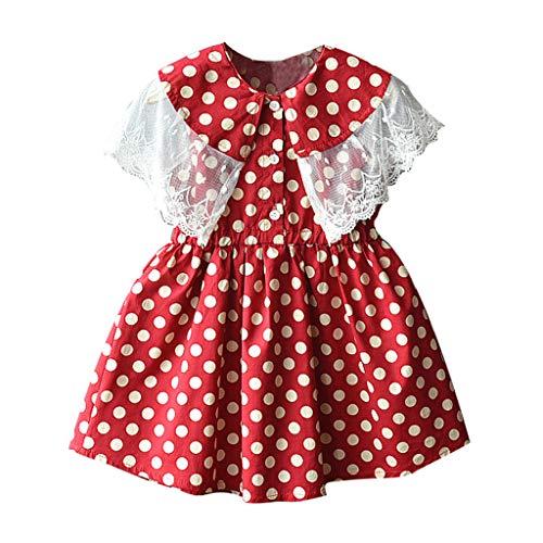 Berimaterry Vestido de Niña Floral Bowknot Vestido de la Honda Princesa Vestido Bautizo Bebé Niñas Vestidos de Sin Manga Primavera Verano Ropa para 0-24 Meses Vestido del Gato Muchacha Encantadora