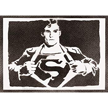 Superman Poster Plakat Handmade Graffiti Street Art – Artwork