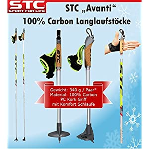100% Carbon Langlauf Stöcke STC Avanti 170 cm