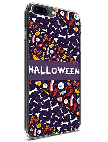 Schutz Hülle Slim Case für Apple iPhone 7 Plus (2016)/iPhone 8 Plus (2017) Happy Halloween Serie, Design-1