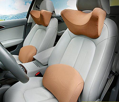 Car Headrest Neck Pillow Lumbar Pad Headrest Waist Cover Car Memory Cotton Neck Pillow Car Pillow Pillow Cushion U-Shaped Lumbar Cervical Spine Father's Day Gift
