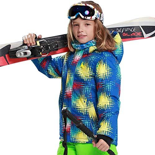 fdghhgjgtkuyiuy Heißer Junge Mode Komfortable Kinder Kinder Winter Warm Halten Außen Wetterfest Schnee Ski Outdoor Sport Jacke Mantel Blau 122/128 (Wetterfest Kinder Mäntel Winter)