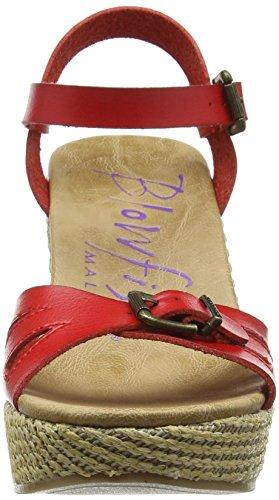 Blowfish Drivein, Sandales Compensées femme Rouge (Bright Red)