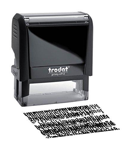 Trodat Stempel x-Print Sicherheit, recycelt, aus Kunststoff, nachfüllbar, Prägung L4,7 x H1,8 cm, Schwarz