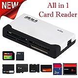 Big-Mountain Alles in 1 Kartenleser | Multi-Speicherkarten USB Leser Super Speed Memory Card Reader USB 1.1 & 2.0 Kartenlesegerät für SD SDHC Mini Mikro M2 MMC XD CF MS (Weiß)