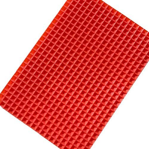 Silikon Backmatte BBQ Grill Matte Home Outdoor Pyramide Pan antihaft Mikrowelle Backblech Gebäck Pizza Matte Küche Werkzeug,Red (Antihaft-gebäck-matte)