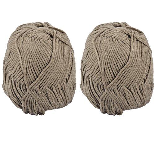 sourcingmap 2pcs DIY handgemachte Socken häkeln Weben stricken Garn Schnur Seil Khaki 100g (Stricken Garn Socke)