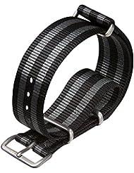 Bracelet de montre militaire G10 NATO en nylon par ZULUDIVER® Boucles satinées, Bond, 20mm