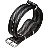 NATO G10 Nylon Military Watch Strap by ZULUDIVER® Satin, Bond, 20mm