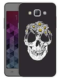 "Humor Gang Smiling Skull Flowers Printed Designer Mobile Back Cover For ""Samsung Galaxy E7"" (3D, Matte Finish, Premium Quality, Protective Snap On Slim Hard Phone Case, Multi Color)"