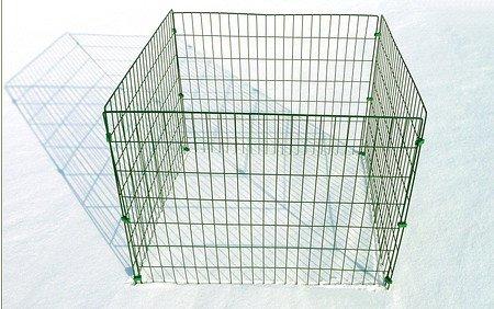 myGardenlust Gitter Komposter - Schnellkomposter aus Stahl mit Kunststoff - Thermokomposter mit Klappe - Kompostierer stabil und hochwertig - Composter für Garten-Abfälle Grün | 660L (Kunststoff-klappe)