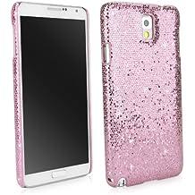 BoxWave Glamour y suntuosidad Samsung Galaxy Note 3 carcasa para-fit diseño de diseño con purpurina - fundas de Samsung Galaxy Note 3 (diseño de princesas Disney rosa)