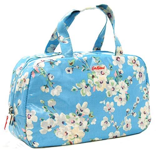 """Cath Kidston - Beauty case grande con manici, motivo""""Wellesley Blossom"""", colore: Blu"""