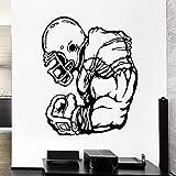 zqyjhkou 3D Nouveau Design Stickers Athlète Sport Jeu Domine Rugby Player Vinyle Stickers Muraux Décor À La Maison Salon Chambre Yy376 56x61 cm