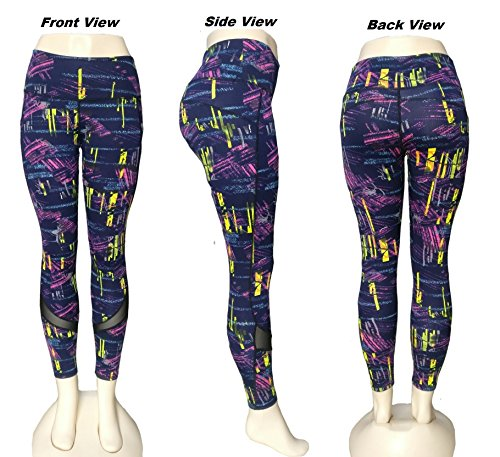 Fashion Womens Yoga Fitness Leggings Gym Stretch Running Pants Multi-color Size Small to Medium (28-32)
