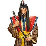 Schwarzer Samurai Chinesen Bart zum Ankleben Chinesenbart Faschingsbart Karnevalsbart Fasching Karneval