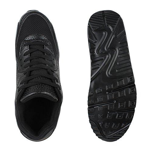Herren Damen Sportschuhe Laufschuhe Runners Sneakers Prints Schwarz Bexhill