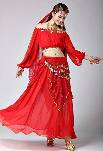 Frauen Indianer Tanz Show Kostüm / Bühne Tanz Performance Kleidung , red