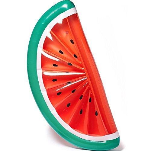Rancross™ Aufblasbare Wassermelone Luftmatratze Sonnenbad auf Wasser für Sommer Wasser Party