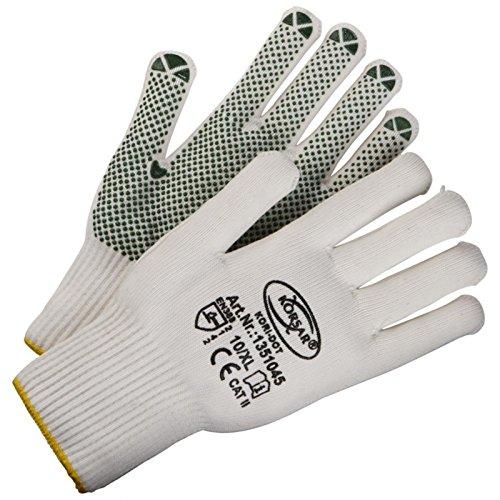 Arbeitshandschuhe Montagehandschuhe Schutzhandschuhe Kori-Dot - Größe 8 - weiß