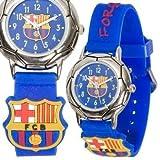FC Barcelona - Reloj para niño con correa de color burdeos