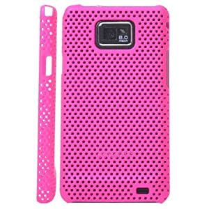 Iprotect ORIGINAL SAMSUNG GALAXY S2 I9100 NETZHARDCASE IN PINK / LILA HÜLLE Galaxy S2 S 2 SII Schutzhülle