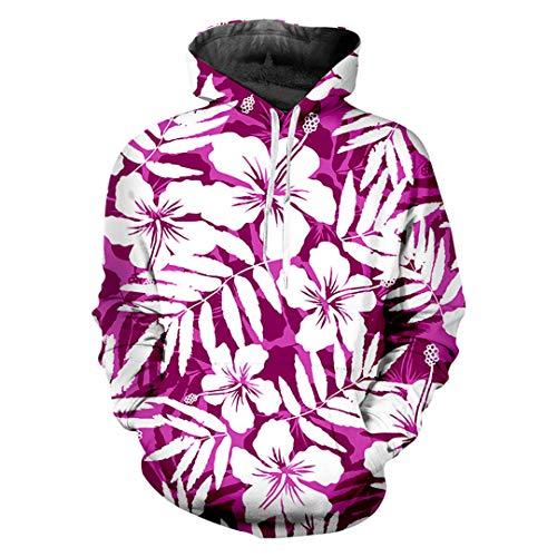 3D Print Blume Hip Hop Große Kleidung Unisex Hoodies Sweatshirts Black L -