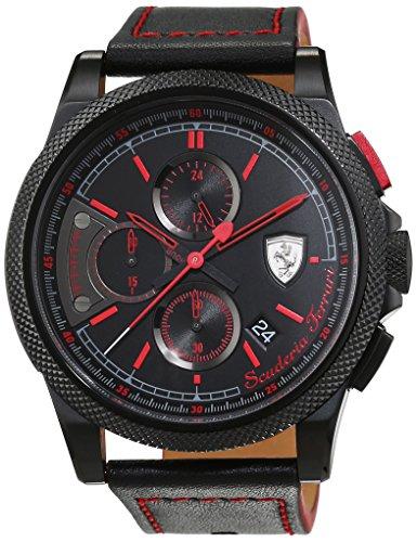 Scuderia Ferrari Orologi Herren-Armbanduhr Formula Italia S Analog Quarz Leder 0830273