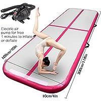 FBSport AirTrack - Alfombrilla hinchable para gimnasia con bomba de aire eléctrica para uso doméstico,
