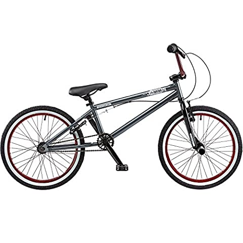 1 20 Zoll BMX Rooster Jammin PRO 16 / 9 Park Freestyle Bike 3 teilige Kurbel, Farbe:grau/rot