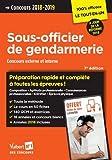 Concours Sous-officier de gendarmerie - Catégorie B - Préparation rapide et complète à toutes les épreuves - Externe et Interne - 2018-2019