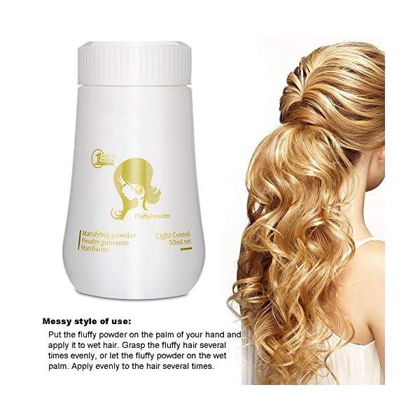 Polvo para el cabello: el polvo para dar volumen al cabello modelado modela el polvo aumenta el volumen del cabello…