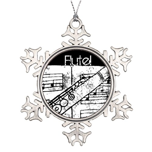 Tree Branch Decoration Flute Customized Christmas Snowflake Ornaments