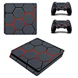 Happyit PS4 Slim Skin Sticker Pegatina protectora de piel Vinyl Decal...