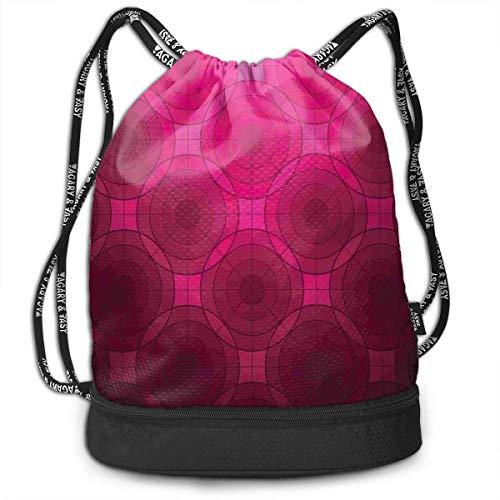 Cupsbags Disc Shaped Fluid Dynamics School Drawstring Bag Backpack Bundle Backpack