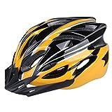 Six Foxes Casco Bici, Ciclo Bike casco pc + eps casco bicicletta (Giallo)