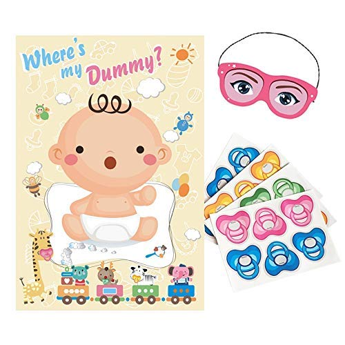 ADJOY baby shower party favors spiel pin the dummy auf dem baby spiel 32 x 21.3