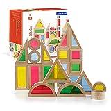 Guidecraft Bloques Arco Iris Jr., Kit de 40 Piezas G3083