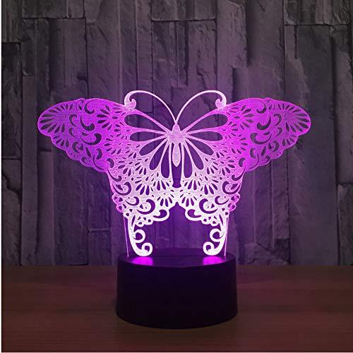 Wohnkultur Kinder Schlaf Licht Bunte 3D Visuelle Schmetterlingsform Tischlampe Led Atmosphäre Nachtlicht Nacht Weihnachtsgeschenk