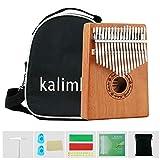Ankuka Kalimba 17 clés,avec protection professionnelle des doigts et livret d'instructions, pour les débutants adultes enfants cadeau de noël