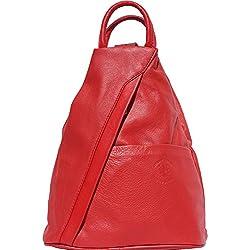 Bolso mochila y bolsa de hombro 2061 (Rojo)