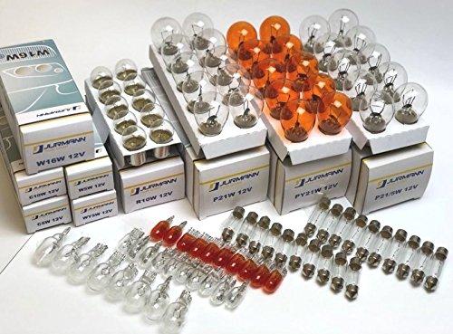 Preisvergleich Produktbild 90x Stück AUTOLAMPEN 10x P21 / 5W + 10x P21W + 10x PY21W + 10x R10W + 10x W16W + 10x W5W + 10x WY5W + 10x C5W + 10x C10W 12V Beleuchtung Glühlampe Glassockel Glühbirne Soffitte E-Prüfzeichen. INION
