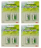 Eunicell 8 x CR2 Lithium Batterie (4 Blistercards a 2 Batterien) EINWEG Markenware FBA