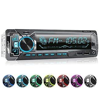XOMAX-XM-R270-Autoradio-mit-Bluetooth-Freisprecheinrichtung-I-Smartphone-Ladefunktion-ber-2-USB-Anschluss-I-Carbon-Optik-I-7-LED-Farben-einstellbar-I-USB-SD-MP3-AUX-I-1-DIN
