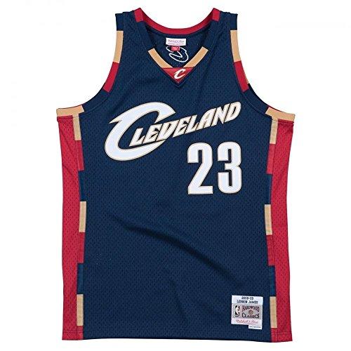 Mitchell & Ness LeBron James #23 Cleveland Cavaliers 2008-09 Swingman NBA Trikot Navy, XL